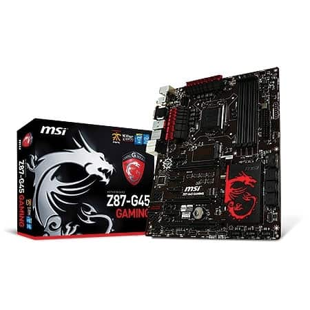 MSI Z87 motherboard used for gaming purposes