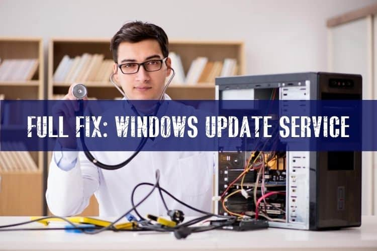 windows update service not running